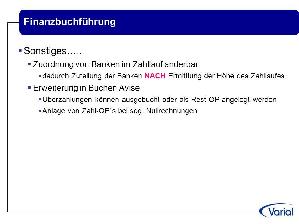 Finanzbuchführung Sonstiges…..