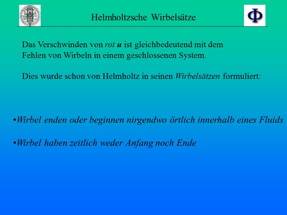 Helmholtzsche Wirbelsätze