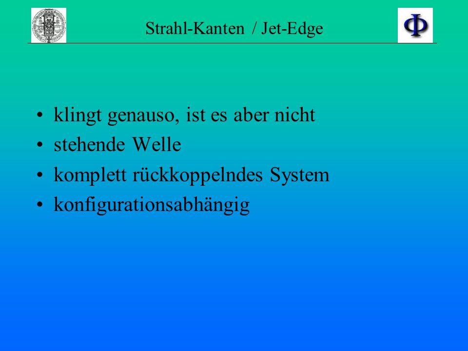 Strahl-Kanten / Jet-Edge