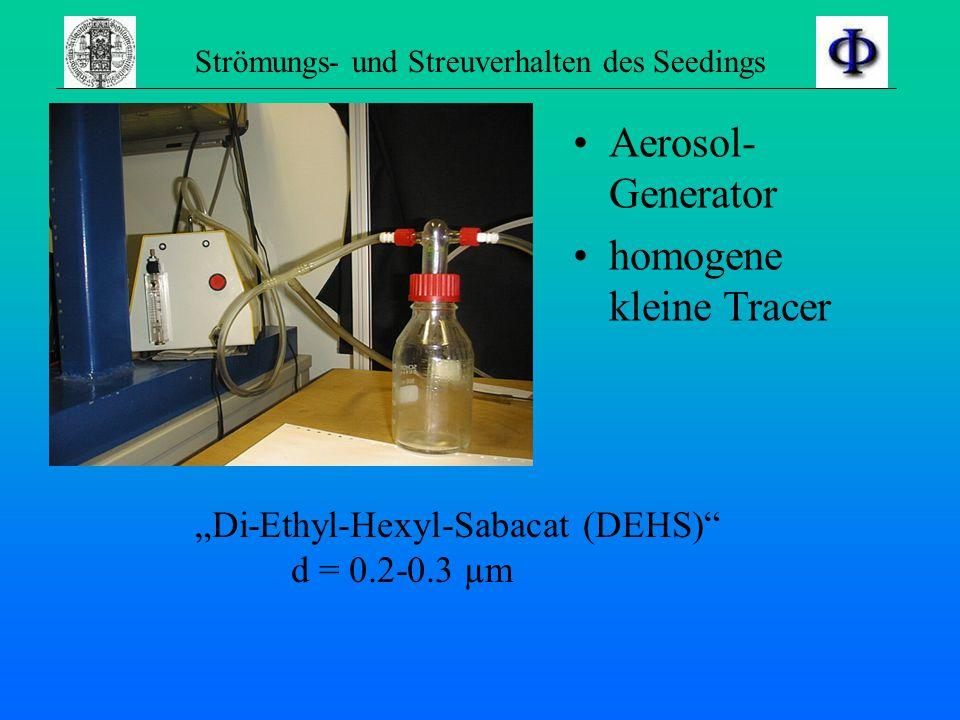 Strömungs- und Streuverhalten des Seedings