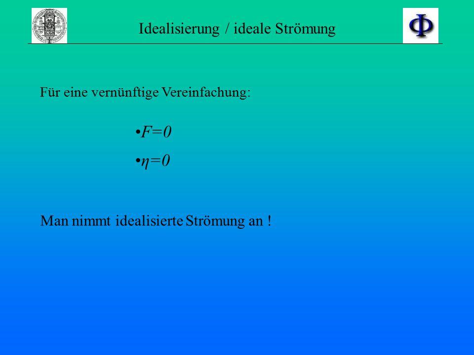 Idealisierung / ideale Strömung
