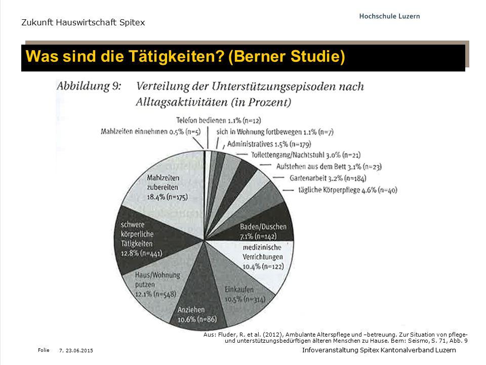 Was sind die Tätigkeiten (Berner Studie)