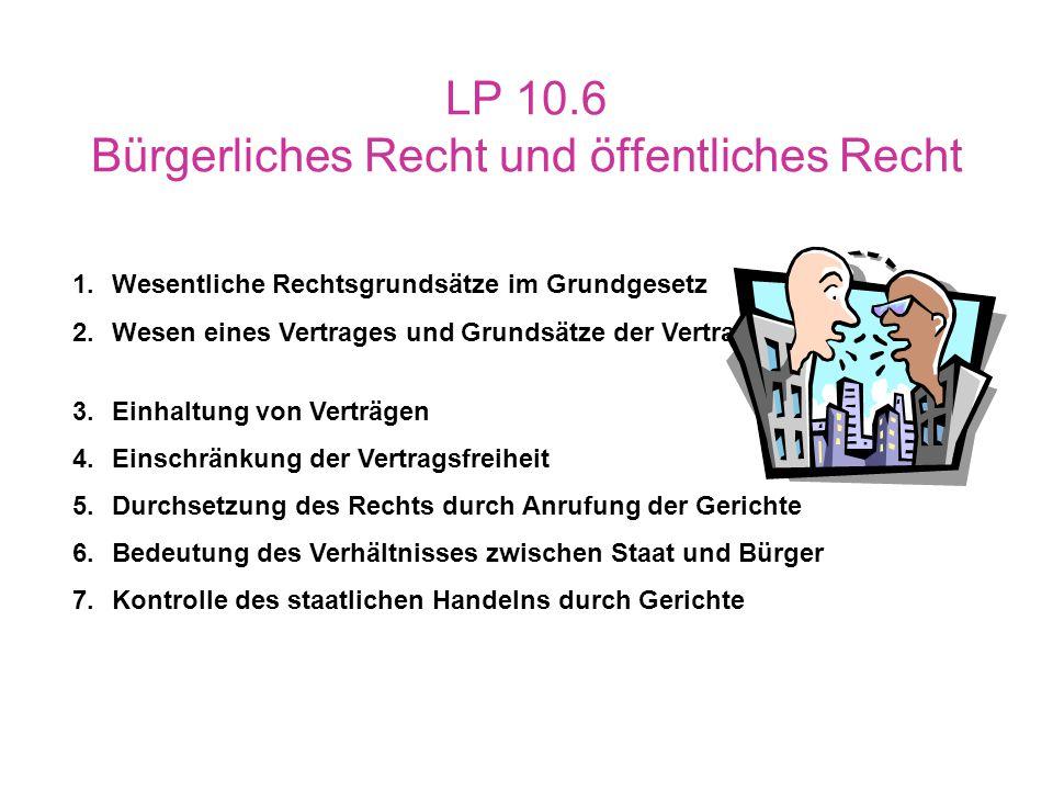 LP 10.6 Bürgerliches Recht und öffentliches Recht