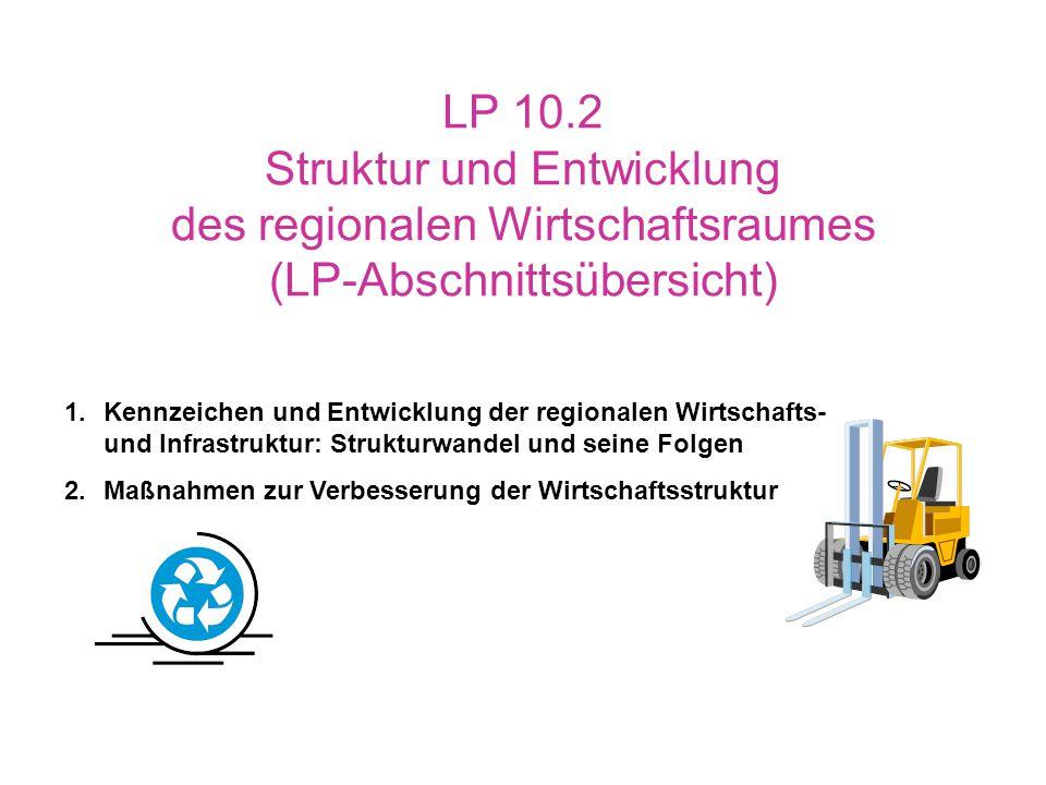LP 10.2 Struktur und Entwicklung des regionalen Wirtschaftsraumes (LP-Abschnittsübersicht)