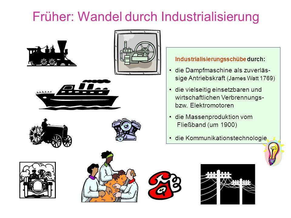 Früher: Wandel durch Industrialisierung