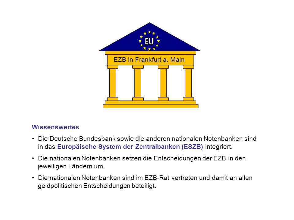 EZB in Frankfurt a. Main Wissenswertes.