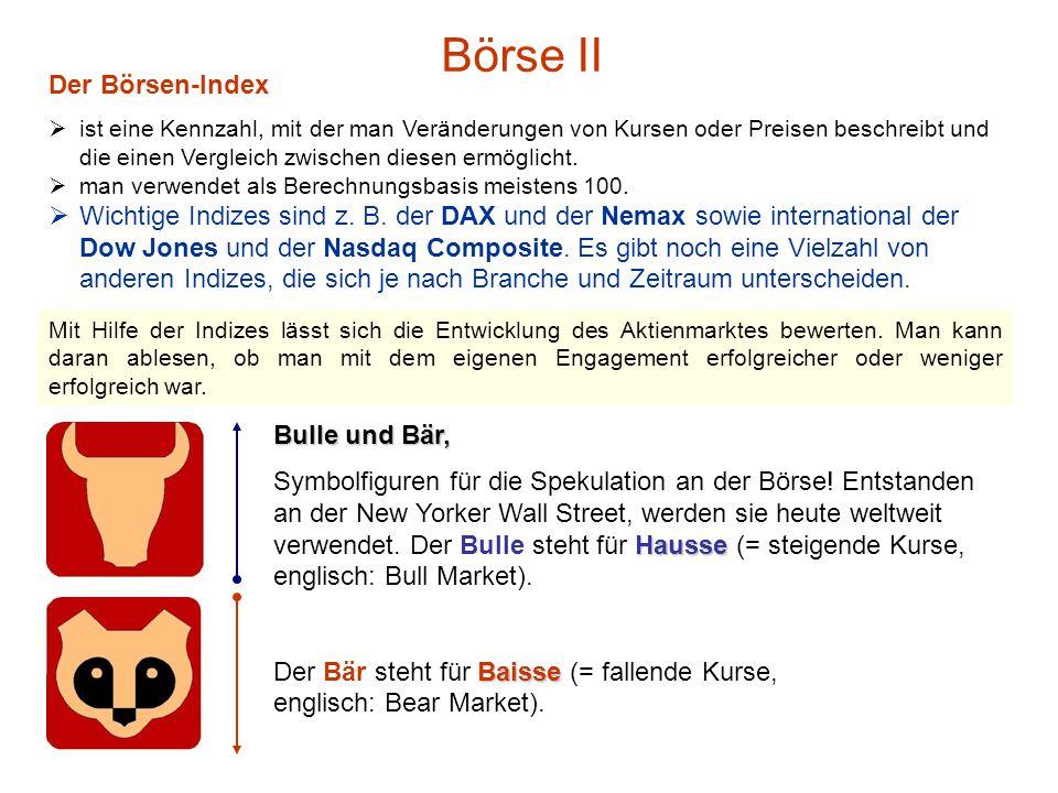 Börse II Der Börsen-Index