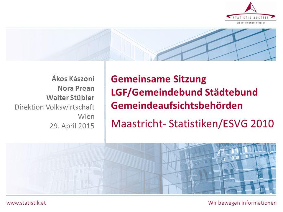 Maastricht- Statistiken/ESVG 2010