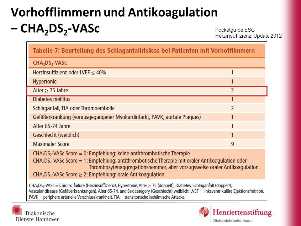 Vorhofflimmern und Antikoagulation – CHA2DS2-VASc
