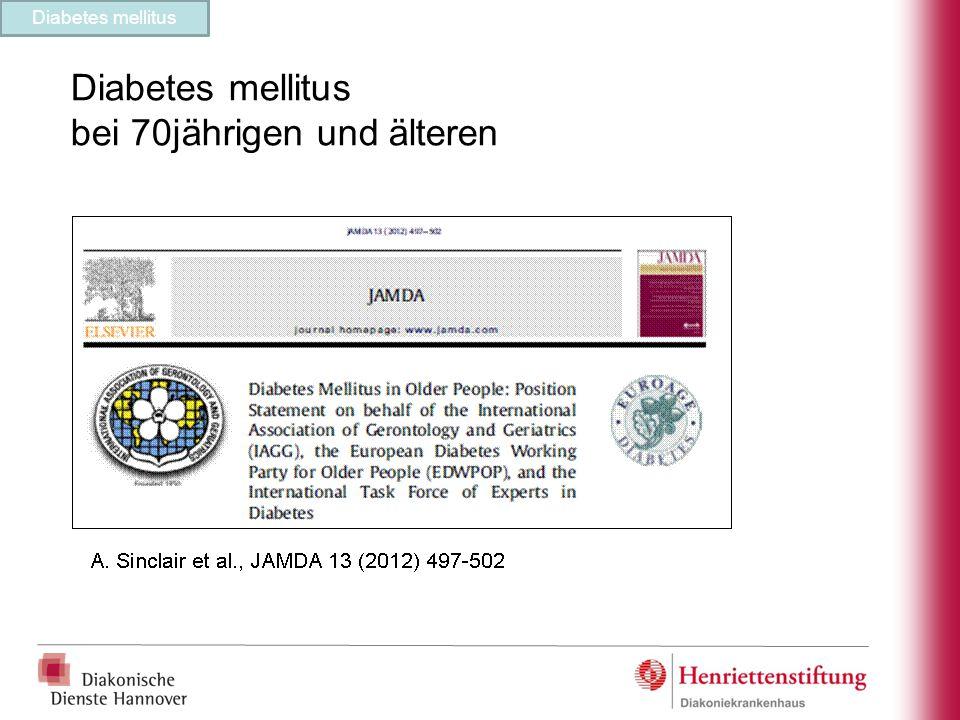 Diabetes mellitus bei 70jährigen und älteren