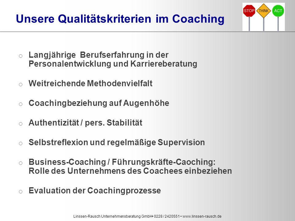 Unsere Qualitätskriterien im Coaching