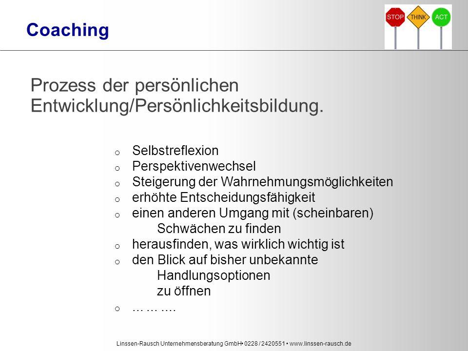 Coaching Prozess der persönlichen Entwicklung/Persönlichkeitsbildung.