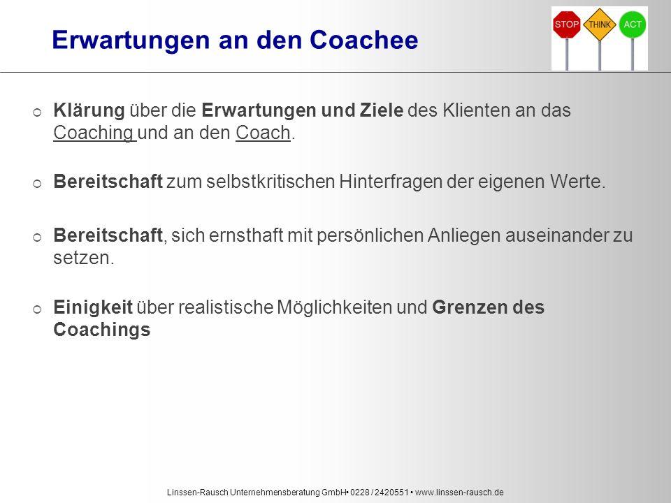 Erwartungen an den Coachee