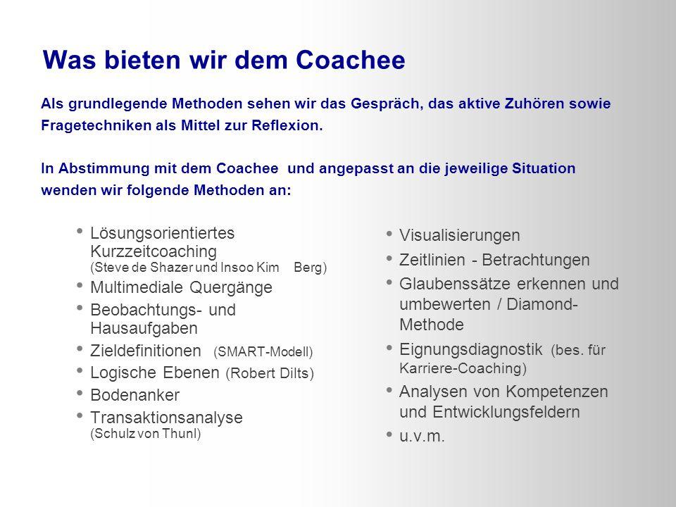 Was bieten wir dem Coachee