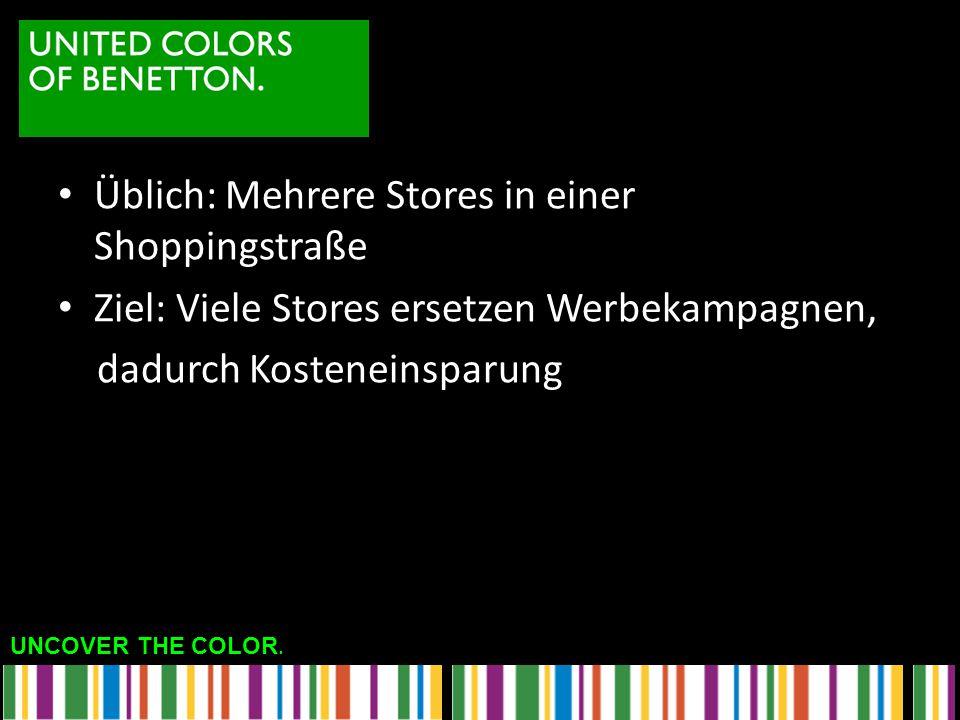 Üblich: Mehrere Stores in einer Shoppingstraße