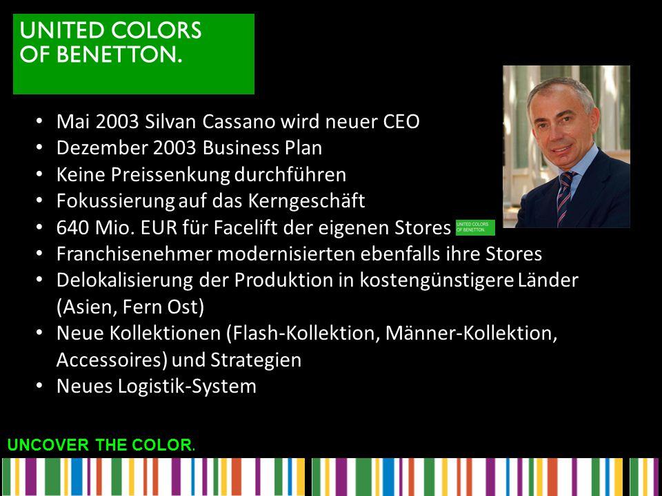 Mai 2003 Silvan Cassano wird neuer CEO
