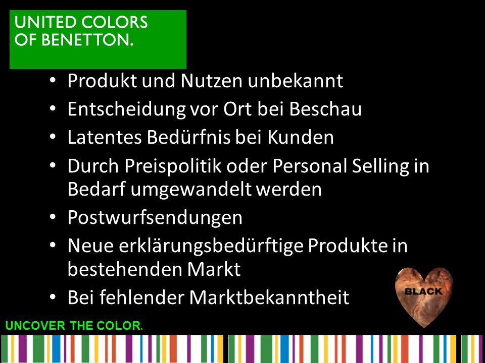 Produkt und Nutzen unbekannt