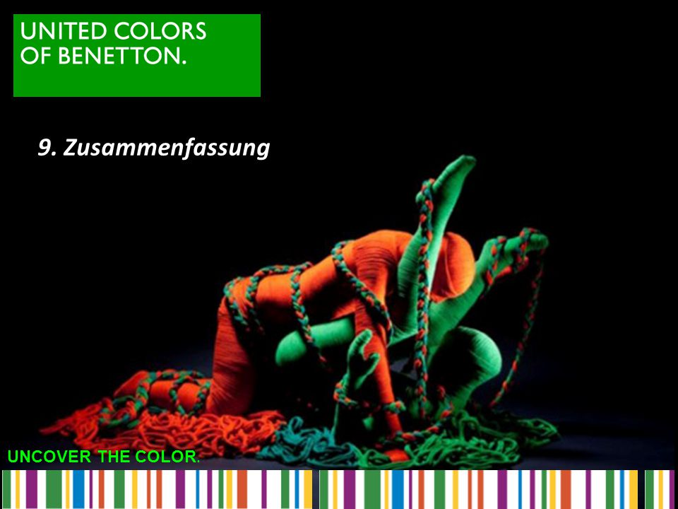 9. Zusammenfassung UNCOVER THE COLOR.