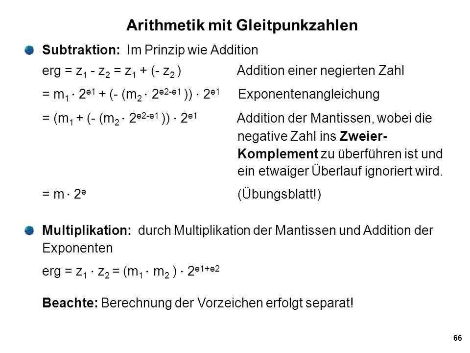 Arithmetik mit Gleitpunkzahlen