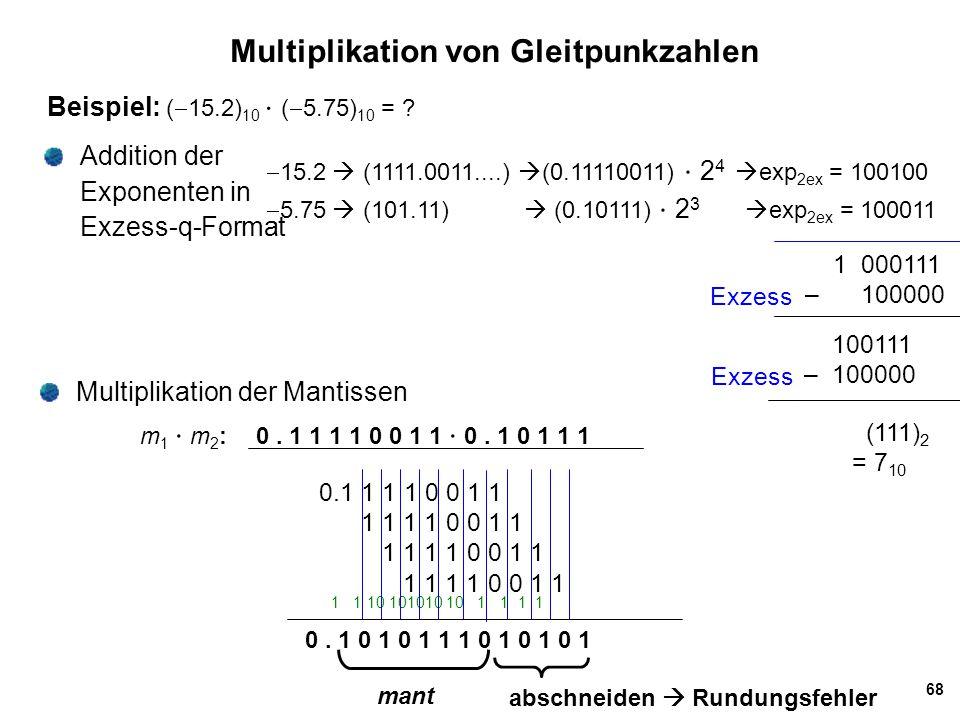 Multiplikation von Gleitpunkzahlen