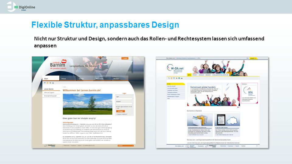 Flexible Struktur, anpassbares Design