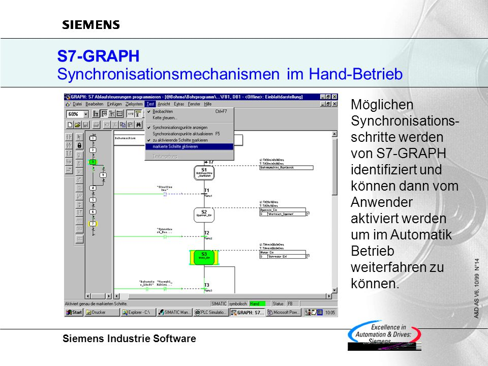 S7-GRAPH Synchronisationsmechanismen im Hand-Betrieb