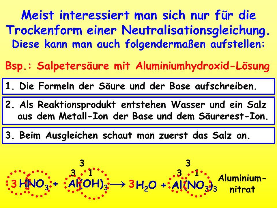 reaktion kalilauge mit phosphorsäure