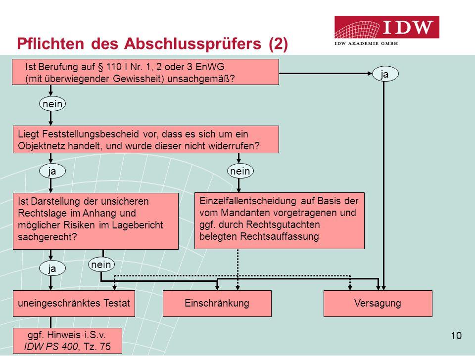 Pflichten des Abschlussprüfers (2)