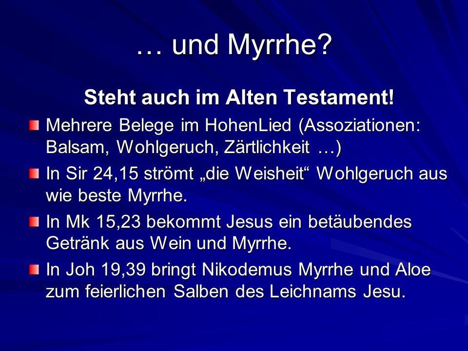 Steht auch im Alten Testament!