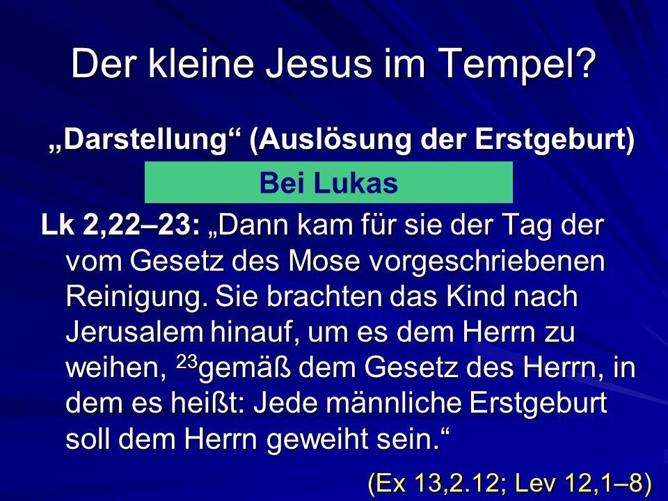 Der kleine Jesus im Tempel