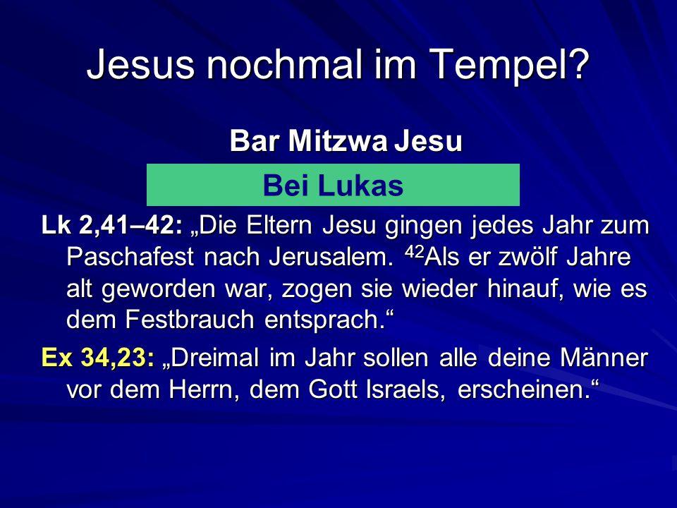 Jesus nochmal im Tempel