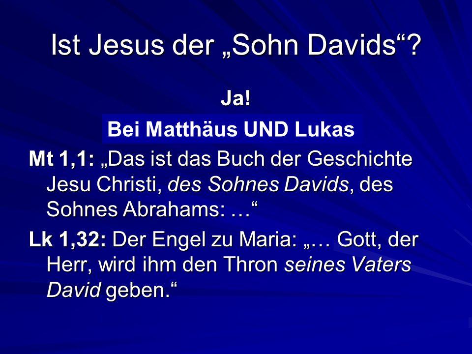 """Ist Jesus der """"Sohn Davids"""