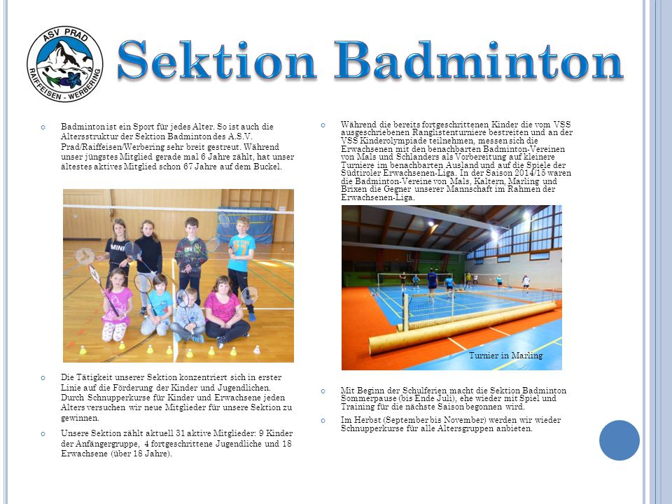 Sektion Badminton