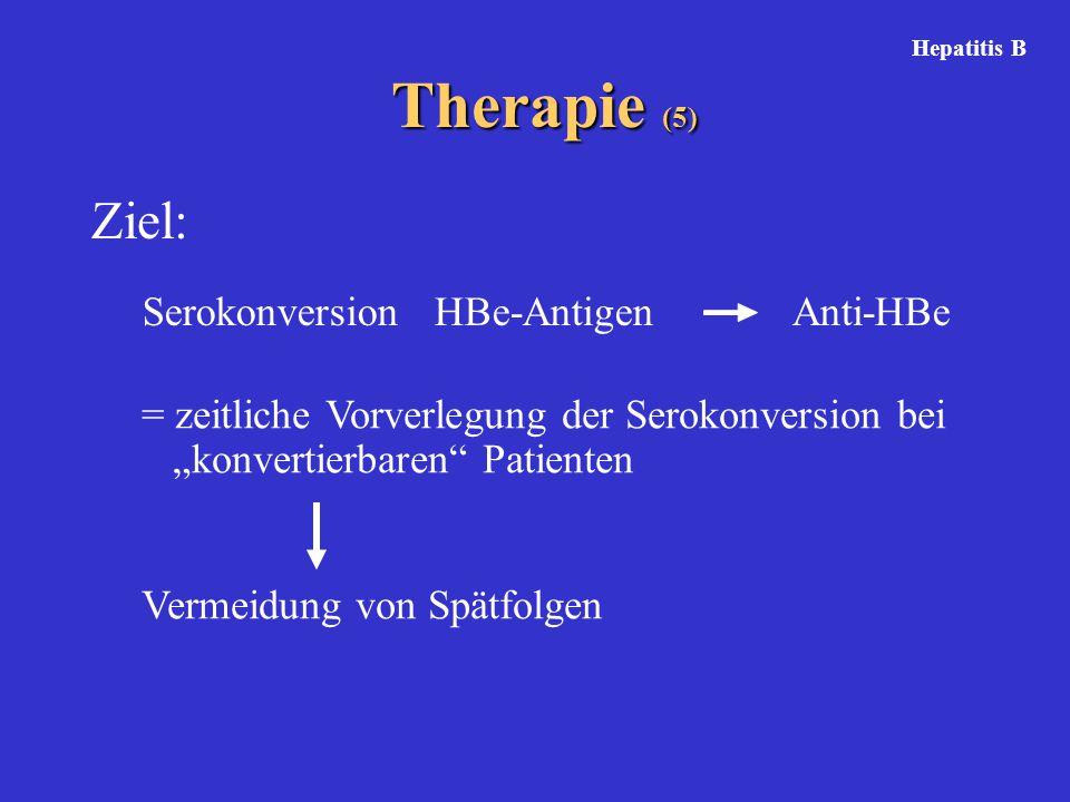 Therapie (5) Ziel: Serokonversion HBe-Antigen Anti-HBe