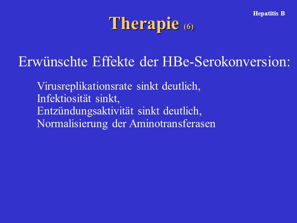 Therapie (6) Erwünschte Effekte der HBe-Serokonversion: