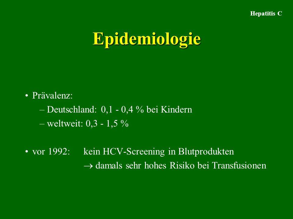 Epidemiologie Prävalenz: Deutschland: 0,1 - 0,4 % bei Kindern