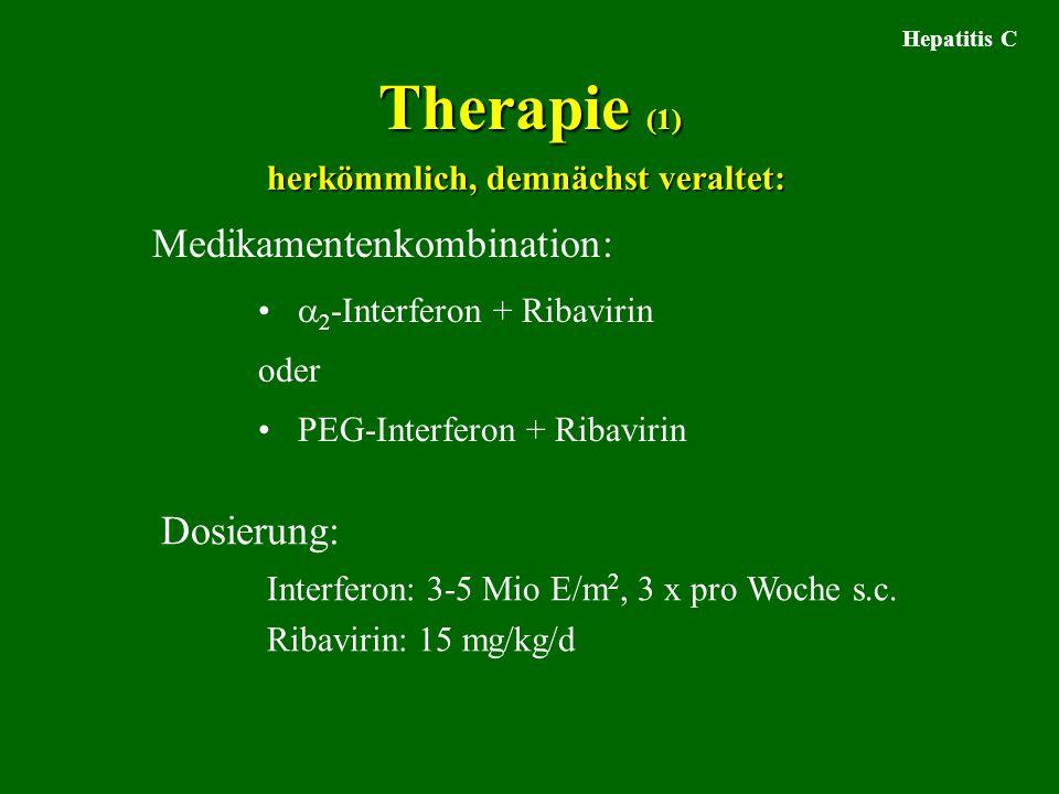 Therapie (1) Medikamentenkombination: Dosierung: