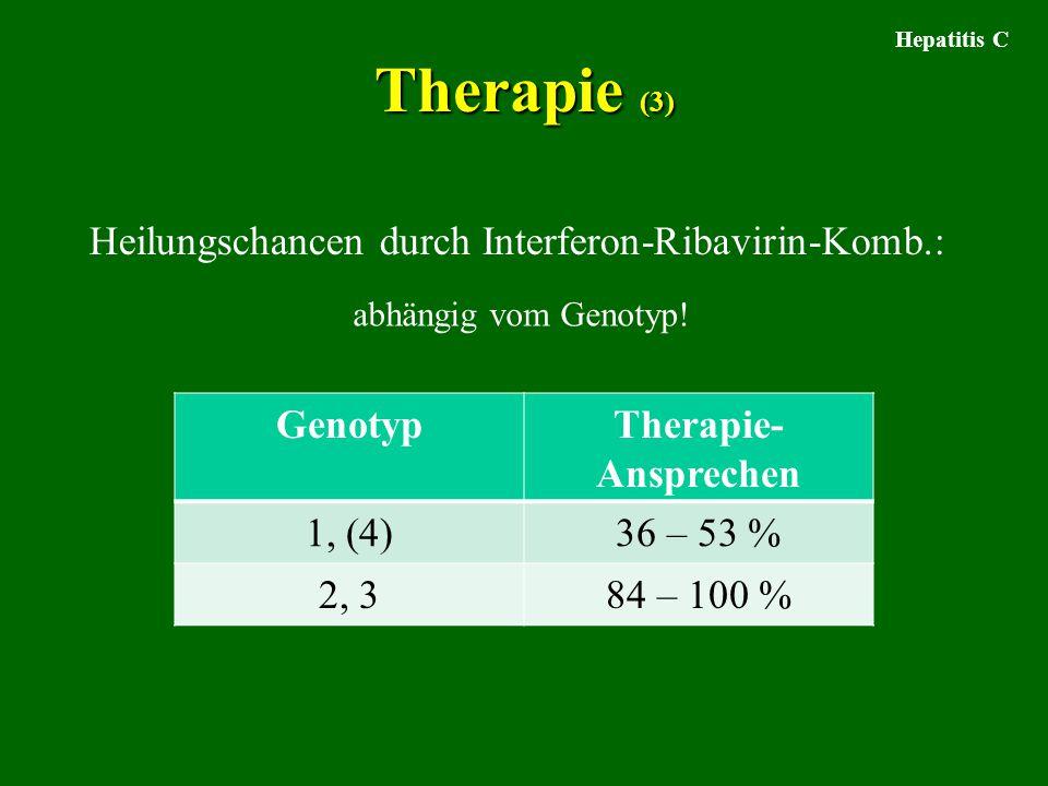 Therapie (3) Heilungschancen durch Interferon-Ribavirin-Komb.: Genotyp
