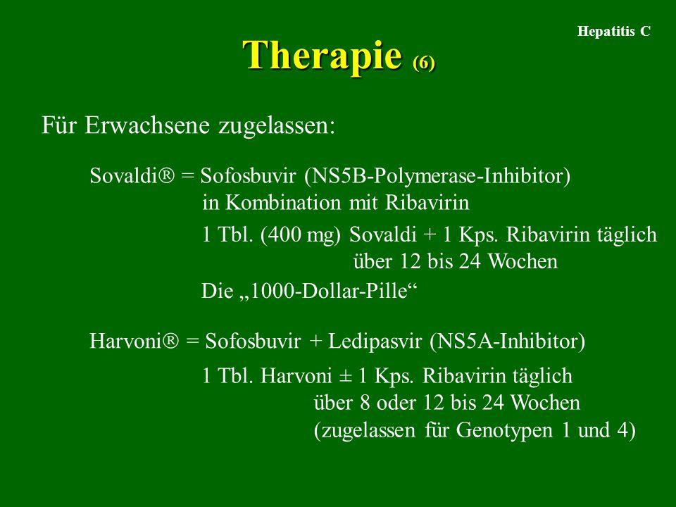Therapie (6) Für Erwachsene zugelassen: