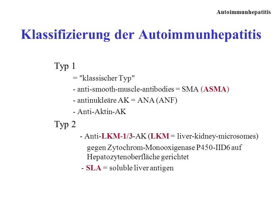 Klassifizierung der Autoimmunhepatitis