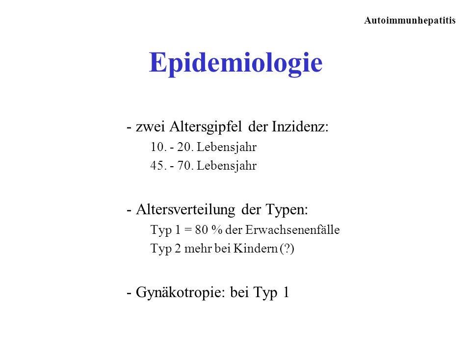 Epidemiologie - zwei Altersgipfel der Inzidenz: