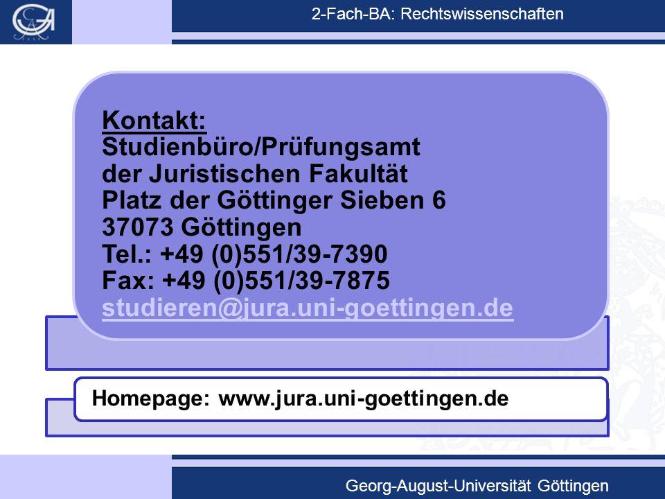 Homepage: www.jura.uni-goettingen.de