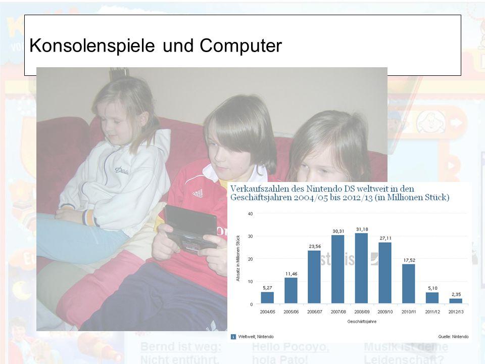 Konsolenspiele und Computer