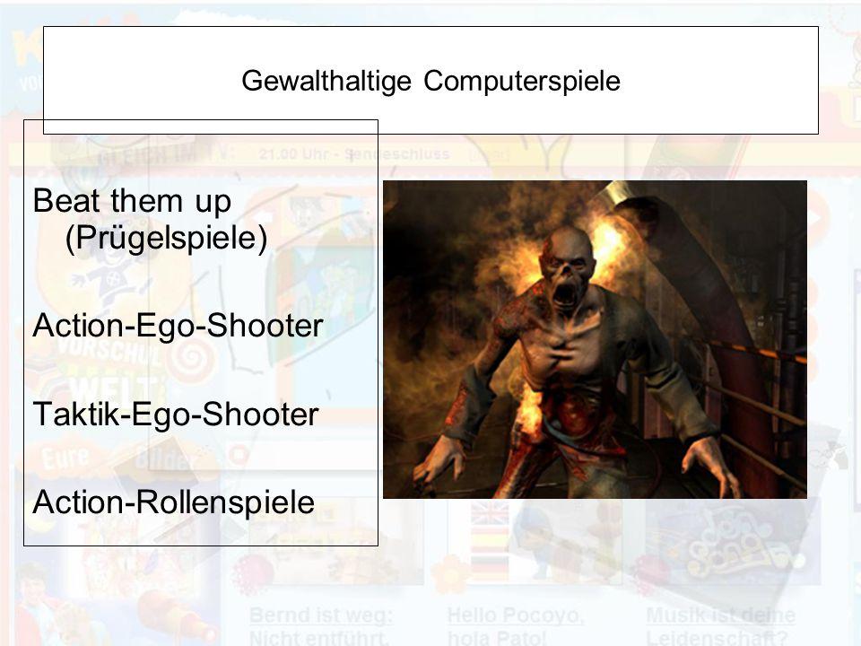 Gewalthaltige Computerspiele
