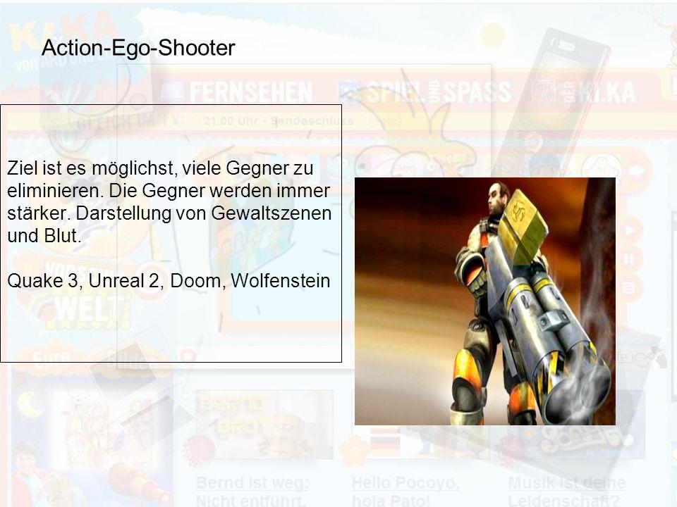 Action-Ego-Shooter Ziel ist es möglichst, viele Gegner zu