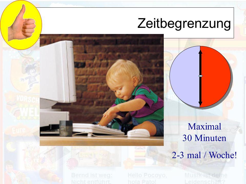 Zeitbegrenzung Maximal 30 Minuten 2-3 mal / Woche!