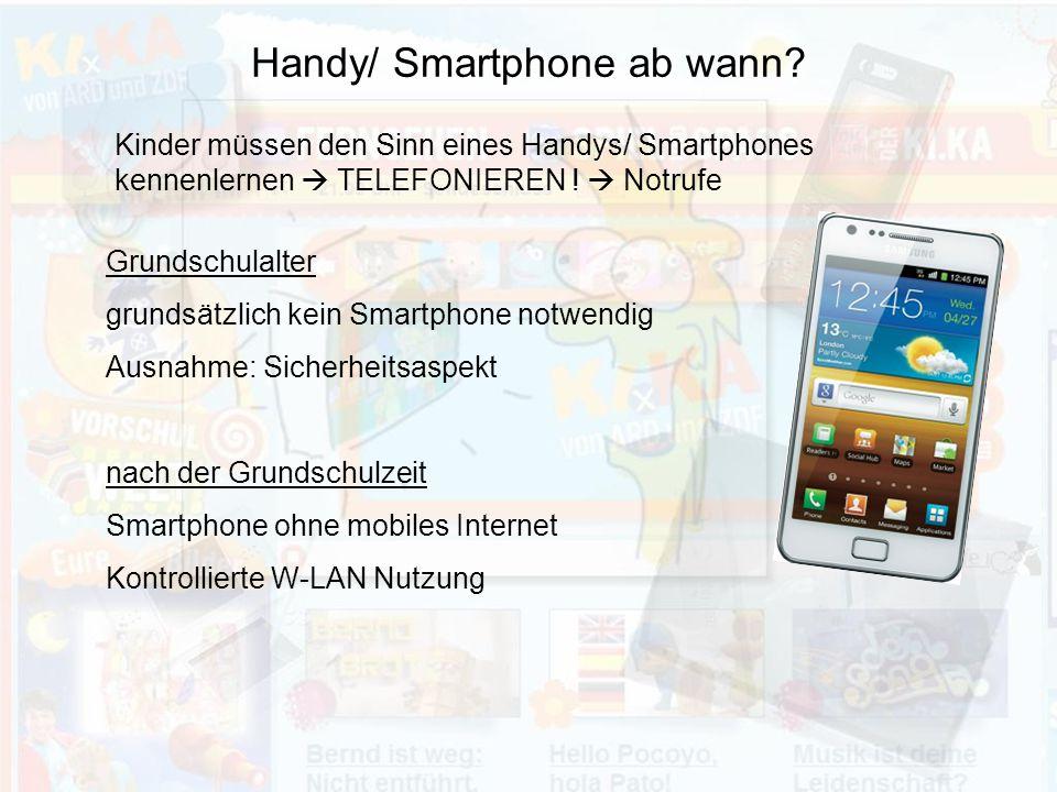 Handy/ Smartphone ab wann