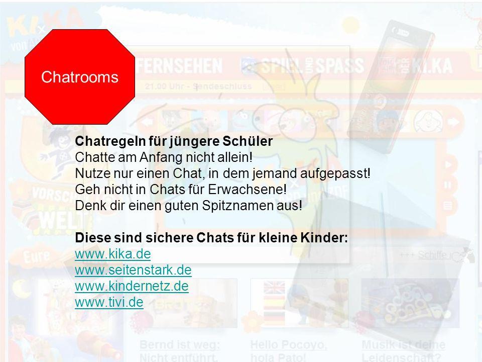 Chatrooms Chatregeln für jüngere Schüler