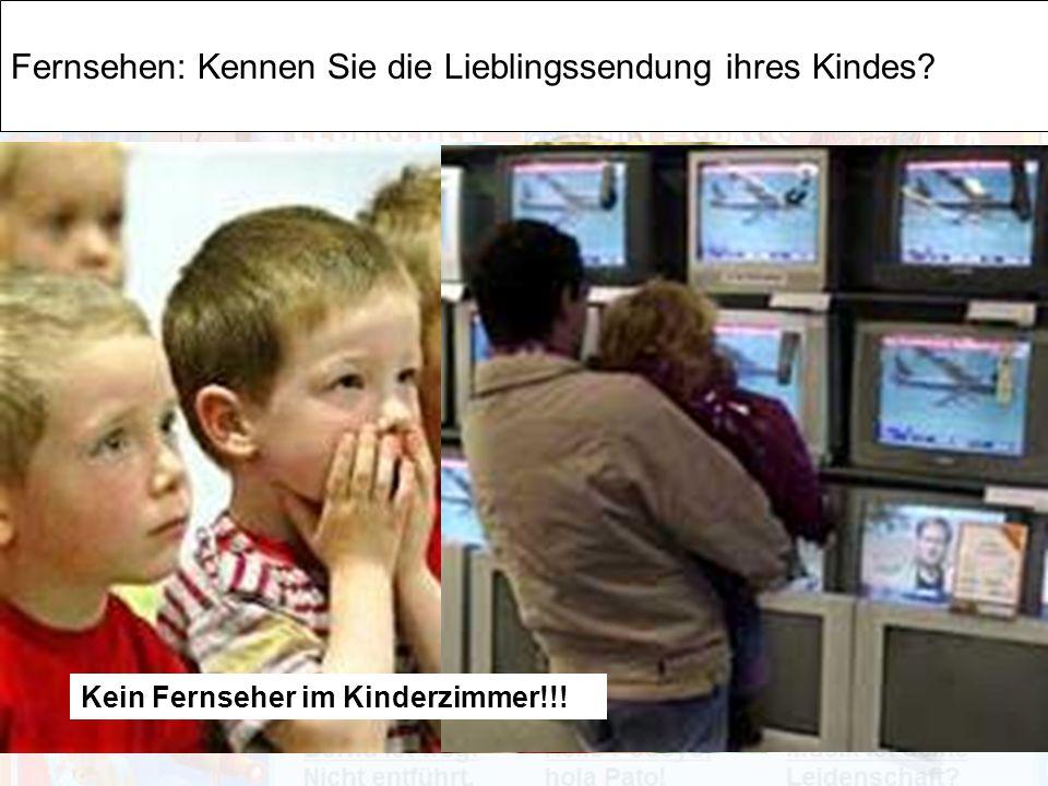 Fernsehen: Kennen Sie die Lieblingssendung ihres Kindes