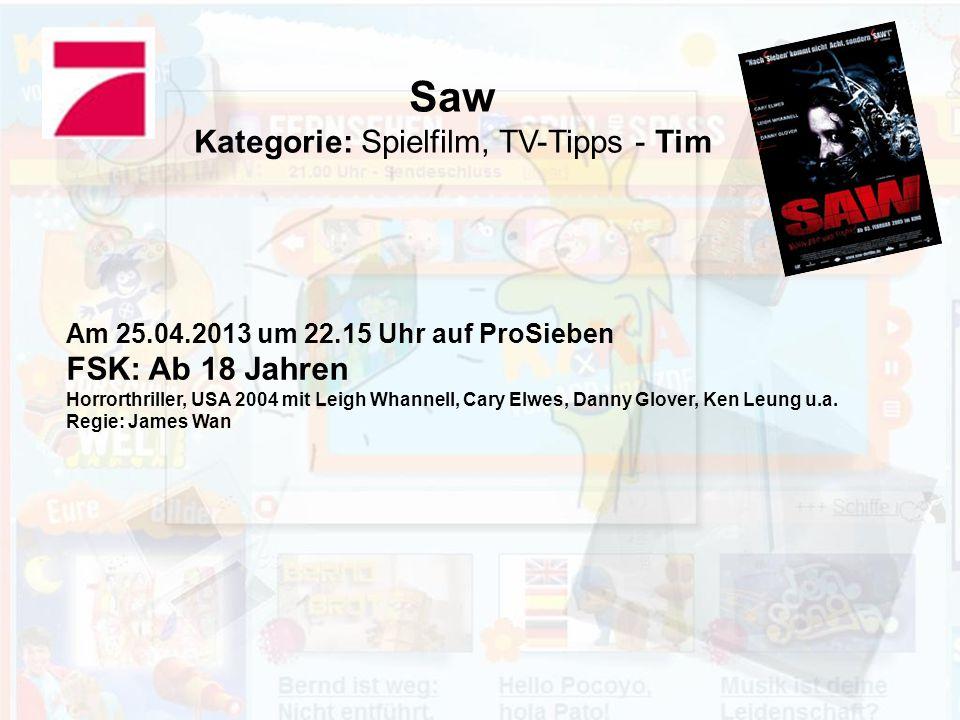 Kategorie: Spielfilm, TV-Tipps - Tim